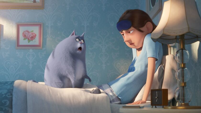 """(L-R)- Chloe (Lake Bell) and her owner in Illumination?s """"The Secret Life of Pets 2,"""" directed by Ch"""