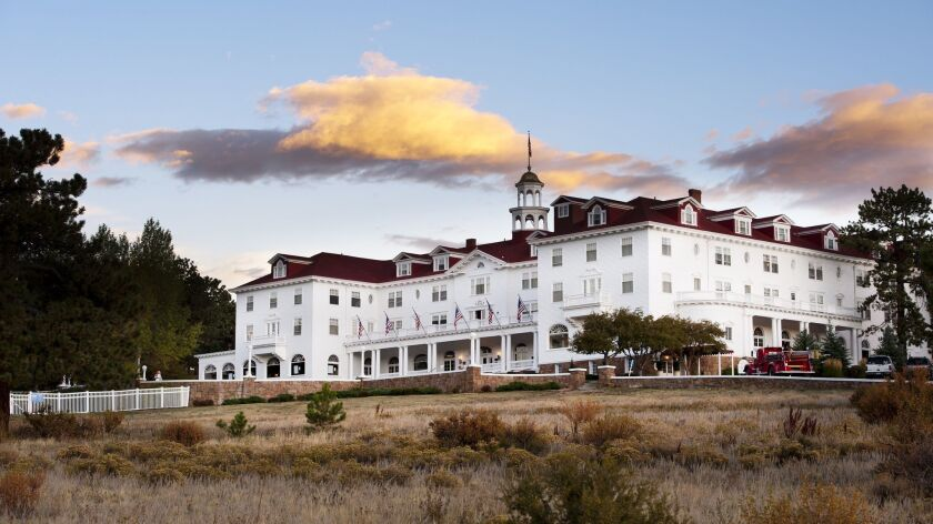 """The Stanley Hotel in Estes Park, Colo., is a favorite among fans of """"The Shining."""" The movie wasn't shot here, but author Stephen King was inspired to write the novel the movie is based on after a stay in one of its """"spirited"""" rooms."""