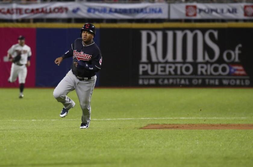 José Ramírez de los Indios corre en un partido. EFE/Archivo