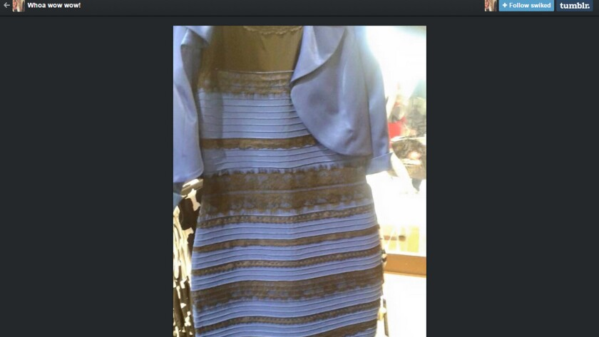 This dress, recently posted on Tumblr, has spurred a debate over whether the dress is blue and black or white and gold. Turns out there is a scientific reason why people see it differently.