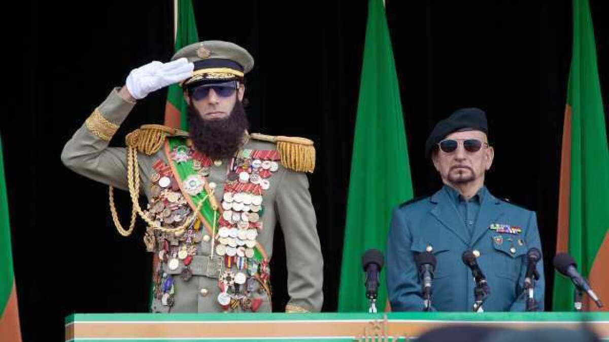 Film Review The Dictator Is Humorous But Stretches Bad Taste Los Angeles Times