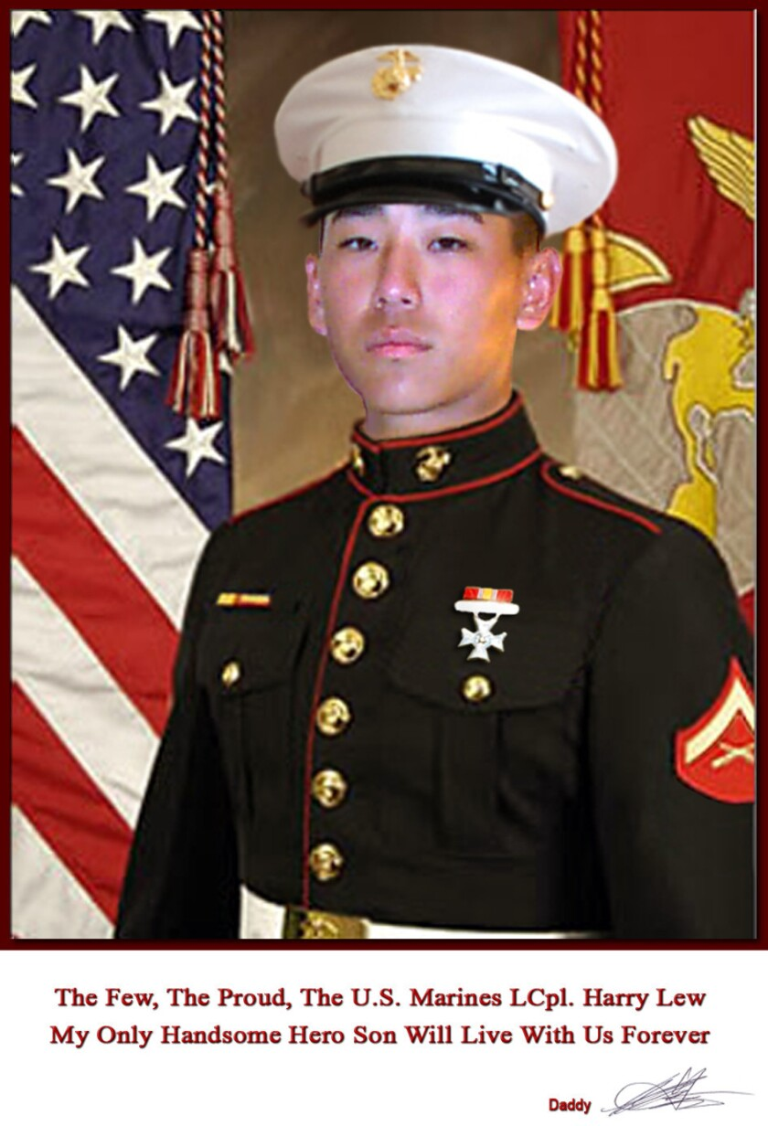 Lance Cpl. Harry Lew in a photo provided by his family.