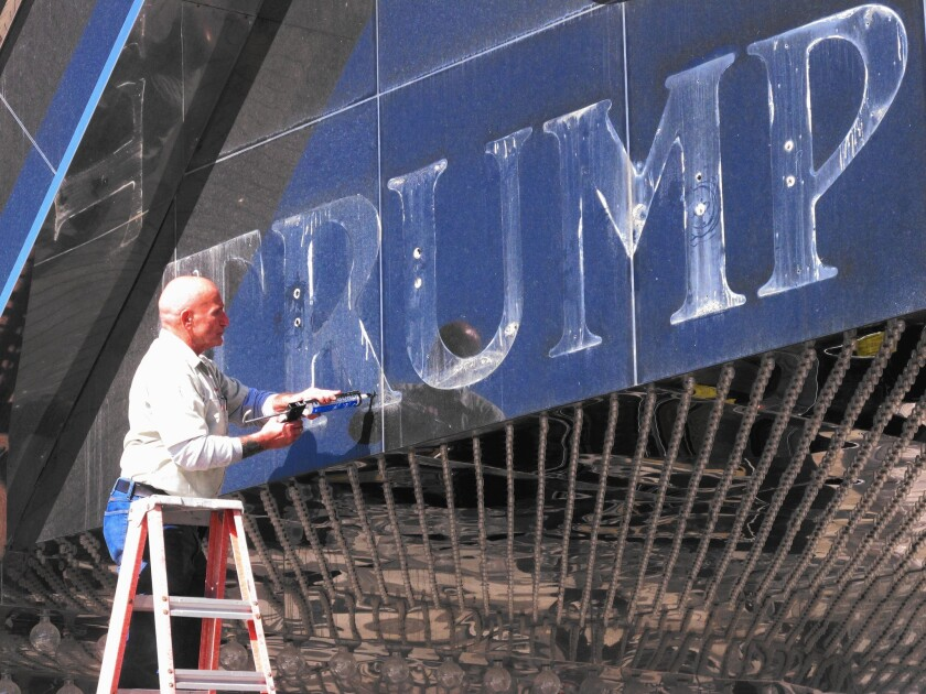 Trump's experience in Atlantic City