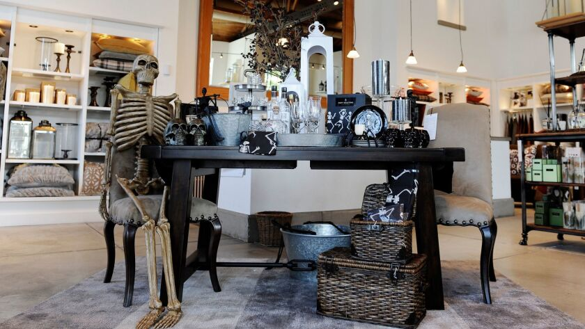 The Halloween display at a Beverly Hills Pottery Barn in 2016.