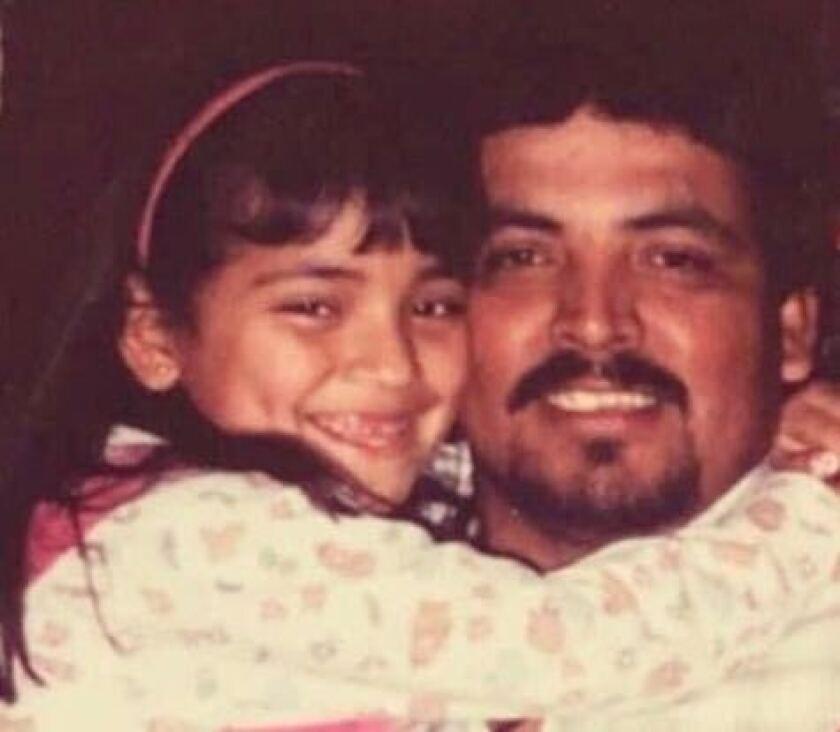 Graciela Uriarte y su padre Julián Uriarte López.