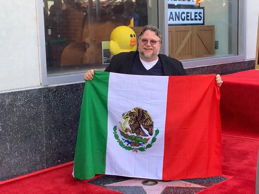 Desde El Paseo de la Fama en Hollywood en la devalción de la estrella de Guillermo del Toro