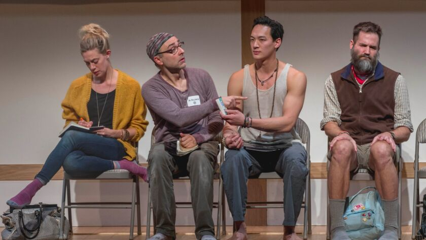 Review: 'Small Mouth Sounds': Playwright Bess Wohl's off-Broadway