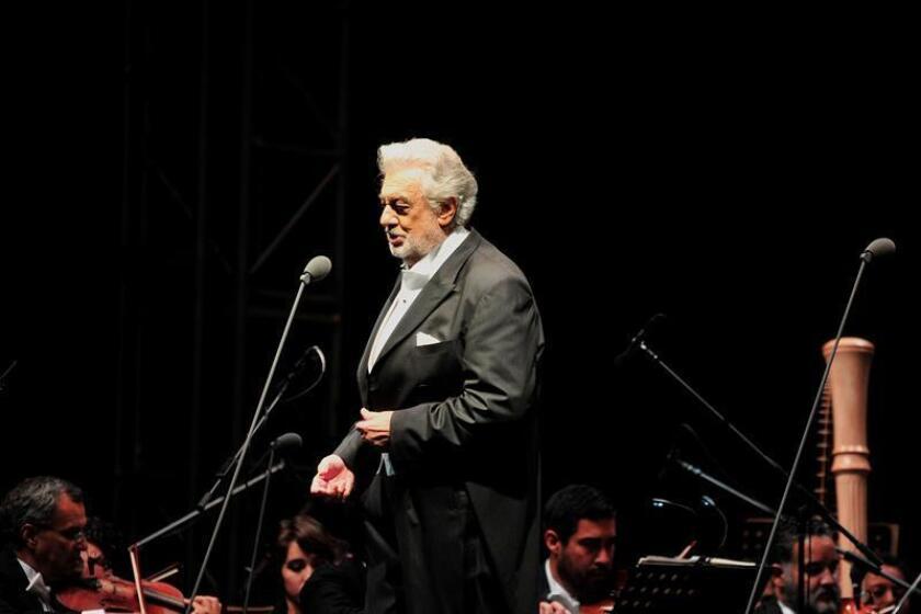 El tenor español Plácido Domingo actúa en la ciudad de Durango (México). EFE