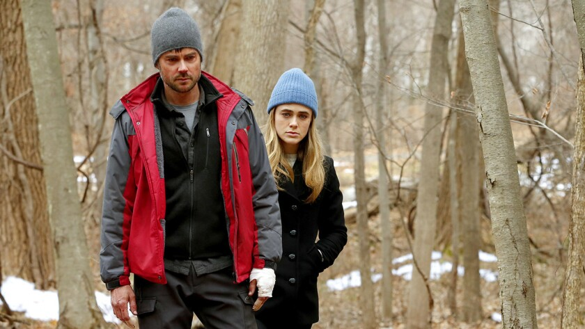 "Matt Long and Melissa Roxburgh in ""Manifest"" on NBC."