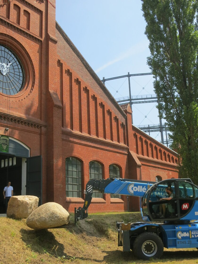 Stone's new Berlin brewery is taking shape inside a historic 1901 brick building.