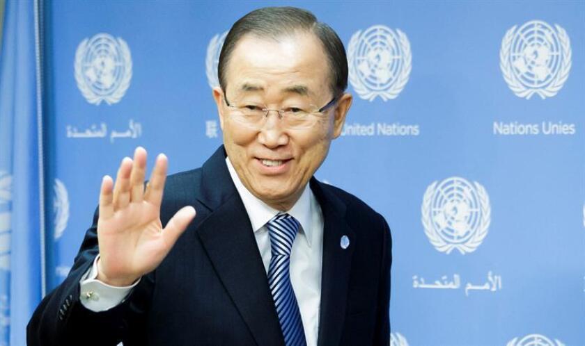 El último minuto de Ban Ki-moon como secretario general de la ONU lo dedicará a participar en la tradicional ceremonia en Times Square para recibir el nuevo año, informaron hoy los organizadores del acto. EFE/ARCHIVO