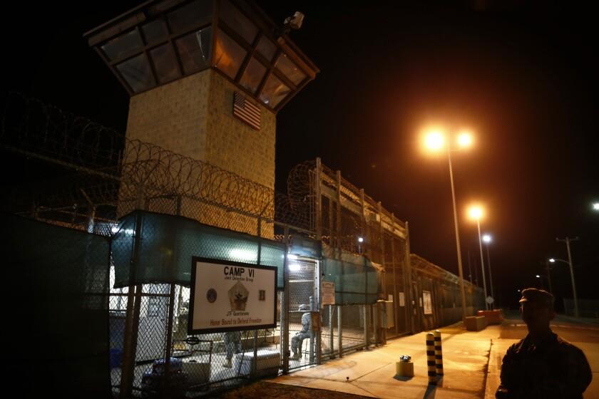 A detention facility at Guantanamo Bay in Cuba.
