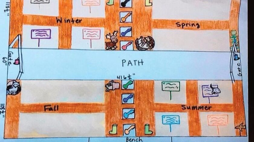 Ashley Falls sixth grade students were given a budget of $2,000 and were tasked with designing a garden map.