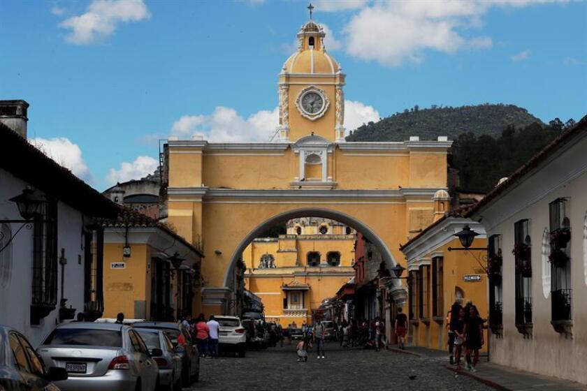 Fotografía del Arco de Santa Catalina el pasado 6 de noviembre de 2018, en Antigua (Guatemala). EFE