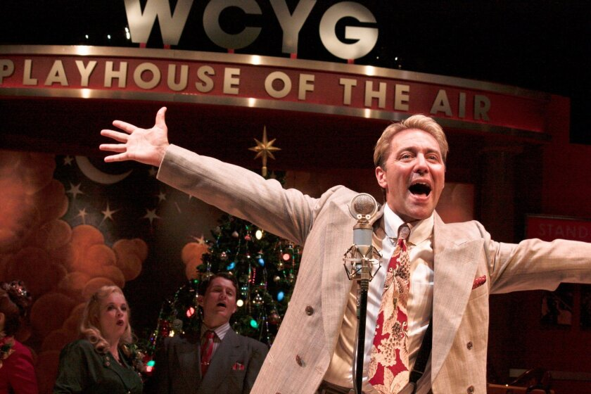 """Tom Andrew in Cygnet Theatre's """"It's a Wonderful Life: A Live Radio Play."""""""