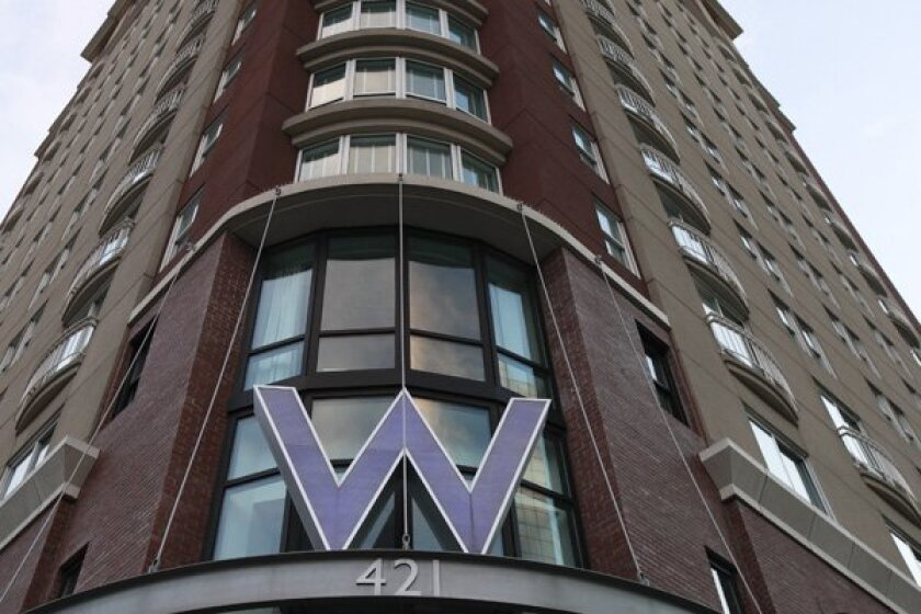 The W Hotel in San Diego was foreclosed on last month but will continue operating.