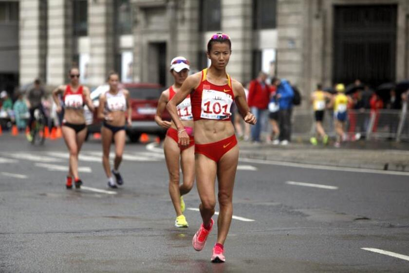 La atleta china Liu Hong. EFE/Archivo