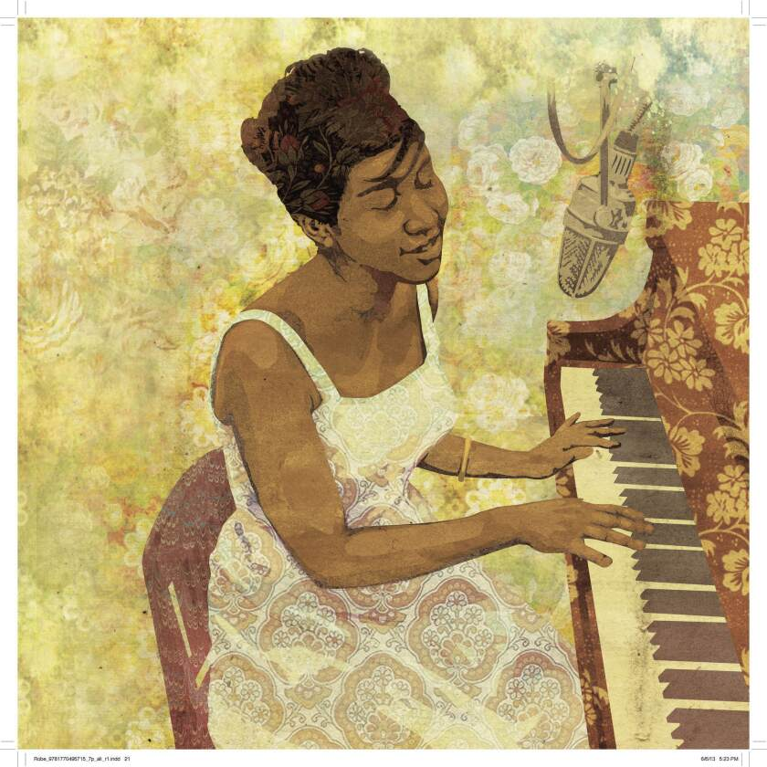 Artist Luis Alves' illustration of singer Aretha Franklin from the new book 'Legends, Icons & Rebels' by guitarist-songwriter Robbie Robertson and three collaborators.