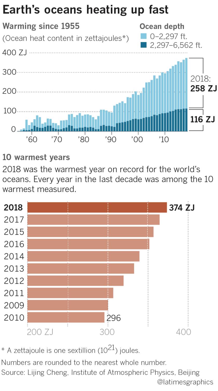 Global ocean temperature