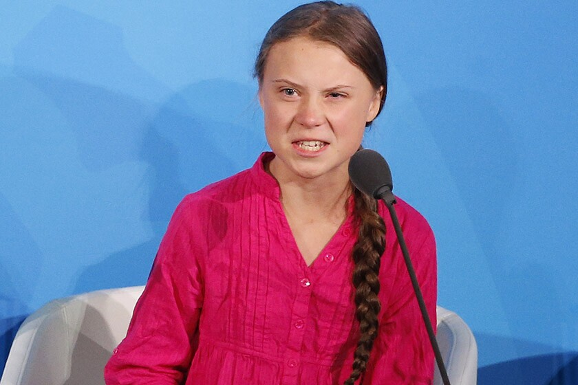 Environmental activist Greta Thunberg addresses the United Nations Climate Action Summit at U.N. headquarters on Sept. 23.