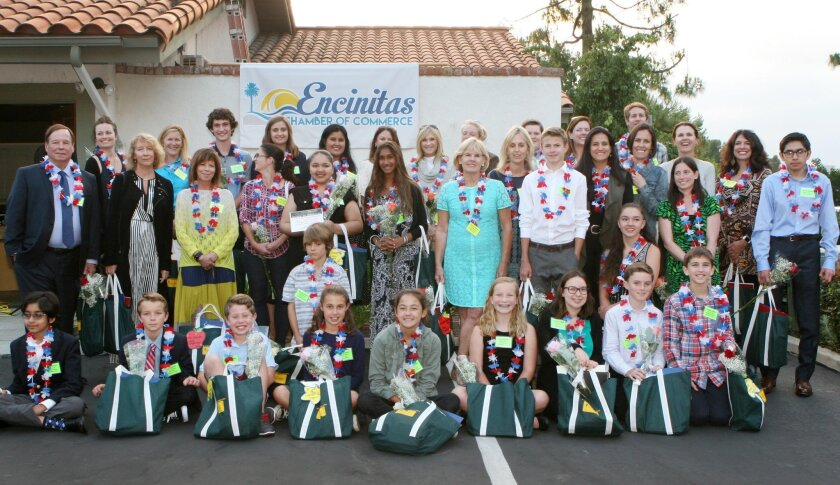 The Encinitas Chamber of Commerce hosted the 19th annual Salute to Education recently. Awards were given to top teachers and students from local school districts.