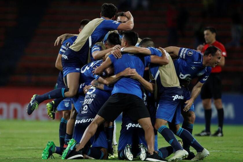 En la imagen, un registro de otra celebración de los jugadores de Atlético Tucumán. EFE/Archivo