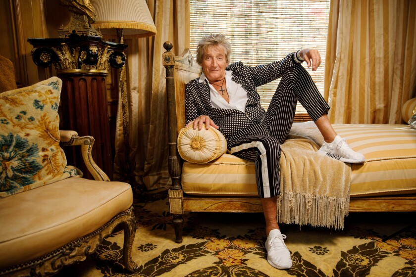 Rod Stewart at his home in Beverly Park.