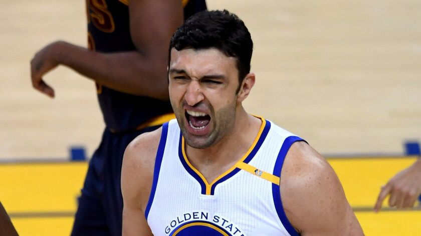 At one Las Vegas sports book, the odds of Golden State's Zaza Pachulia winning the NBA Finals MVP aw