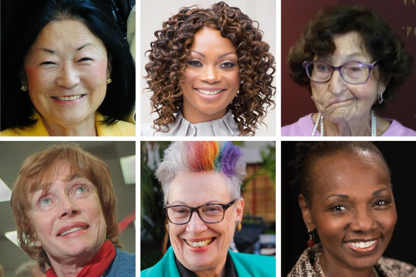 The 2021 inductees of the San Diego County Women's Hall of Fame