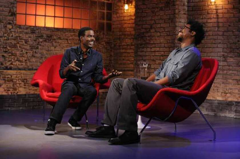 """Chris Rock, left, and W. Kamau Bell appear on """"Totally Biased with W. Kamau Bell."""""""
