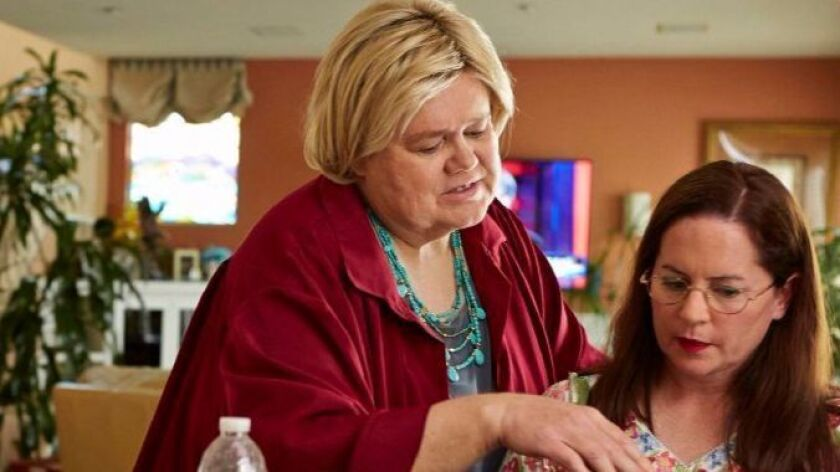 """Martha Kelly, right, on FX's """"Baskets"""" with Emmy winner Louie Anderson."""