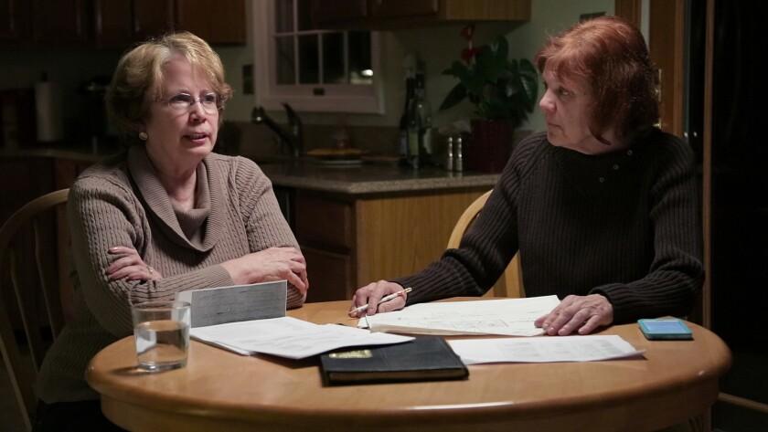 Abbie Schaub and Gemma Hoskins in the seven-part Netflix documentary about the 1969 murder of a Balt
