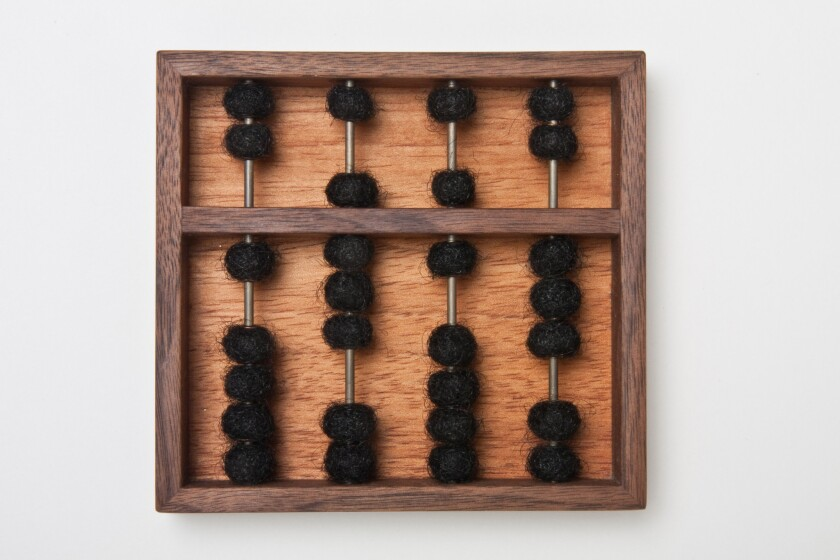 """Abacus 1863"" by Sonya Clark at the Craft & Folk Art Museum"