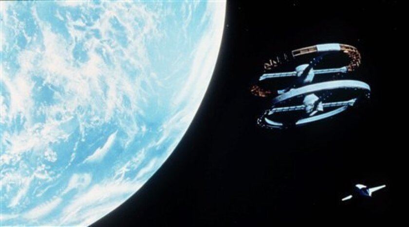 """FILE - In this 1968 publicity image released by Turner Entertainment, a scene is shown from Stanley Kubrick's 1968 film, """"2001: A Space Odyssey."""" (AP Photo/Turner Entertainment, file)"""