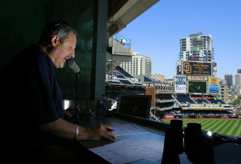 Frank Anthony, former PA Announcer for the San Diego Padres, is shown here during a game against the Royals in 2011.