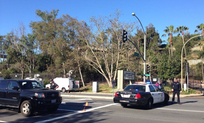 A man with a gun was reported at the Naval Medical Center Thursday, but no shots have been fired, the Navy said.