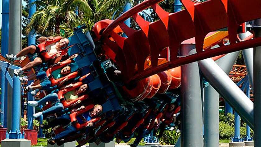 Silver Bullet roller coaster at Knott's Berry Farm