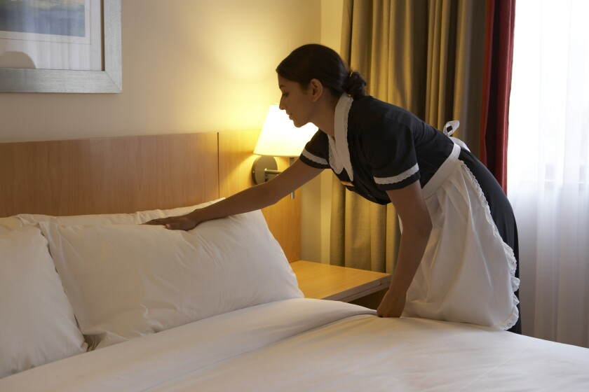 Low-income workers in occupations such as housekeeping are more likely to hail from minority families, according to new research.
