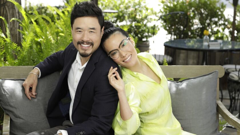 CULVER CITY, CA -- MAY 24, 2019: Randall Park and Ali Wong star in, produced and co-wrote the Netfli