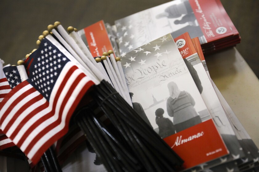 Funds are granted to nonprofits who help permanent residents with the naturalization process.