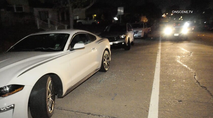 At least 70 vehicles were vandalized around Whittier, police said Friday morning.
