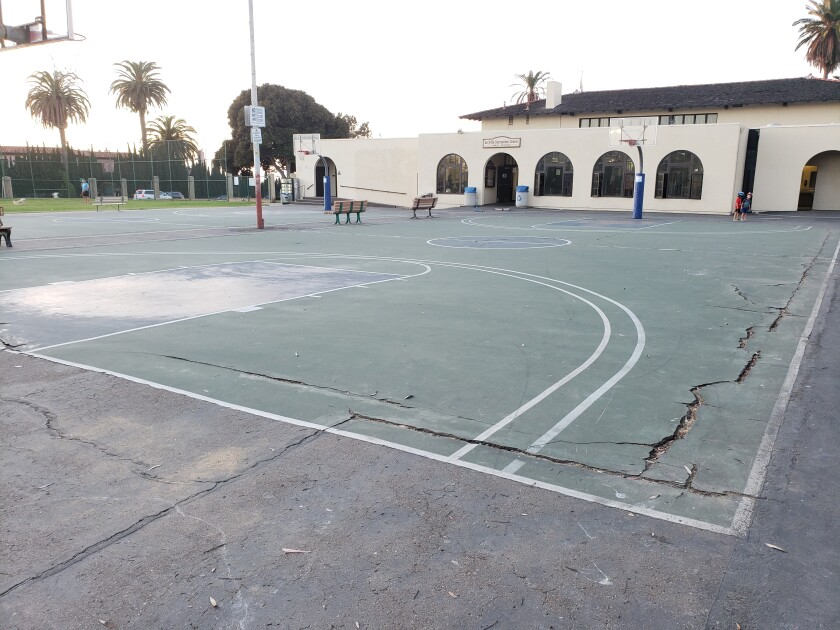 The basketball courts behind the La Jolla Recreation Center at 615 Prospect St. will be resurfaced starting Monday, Nov. 4, the City reports.