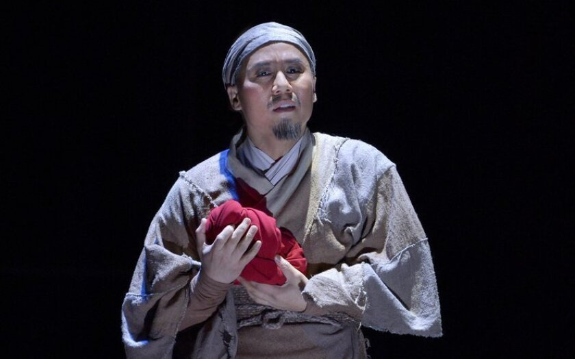 "BD Wong in La Jolla Playhouse's ""The Orphan of Zhao."""