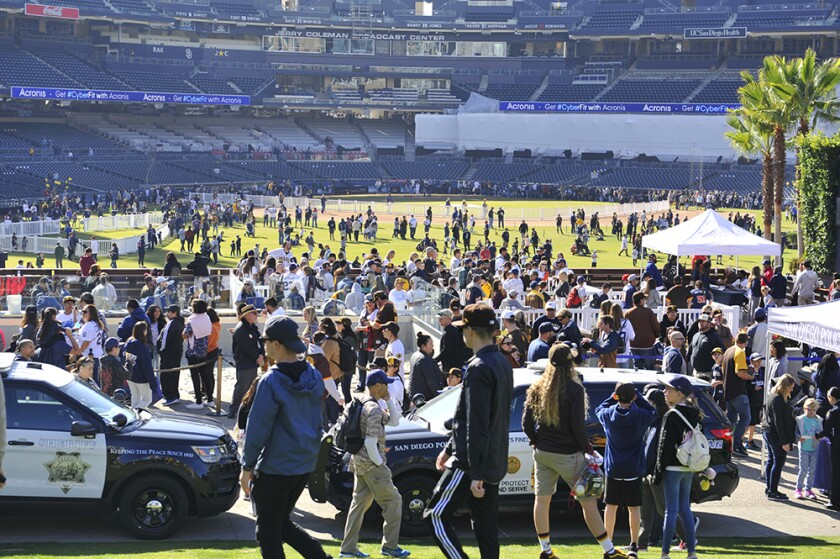 The last time fans were inside Petco Park was for FanFest in January 2020.