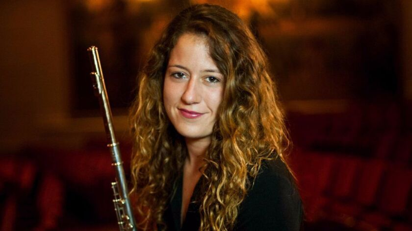 """Rose Lombardo, the San Diego Symphony's principal flutist, will be featured during the orchestra's """""""