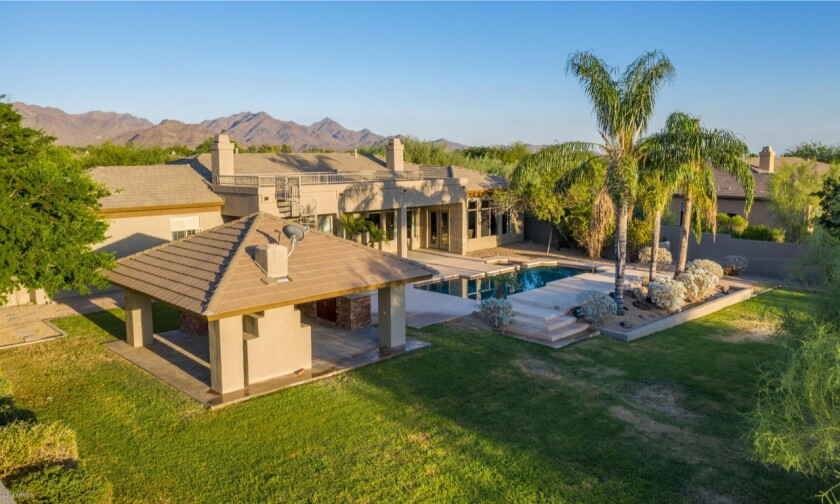 The single-story home of Grady Sizemore in Scottsdale, Ariz.