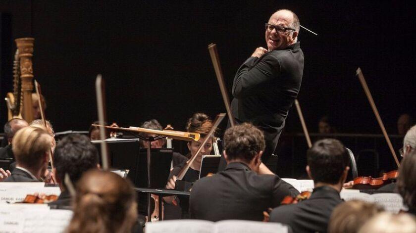 Steven Schick conducting the La Jolla Symphony.