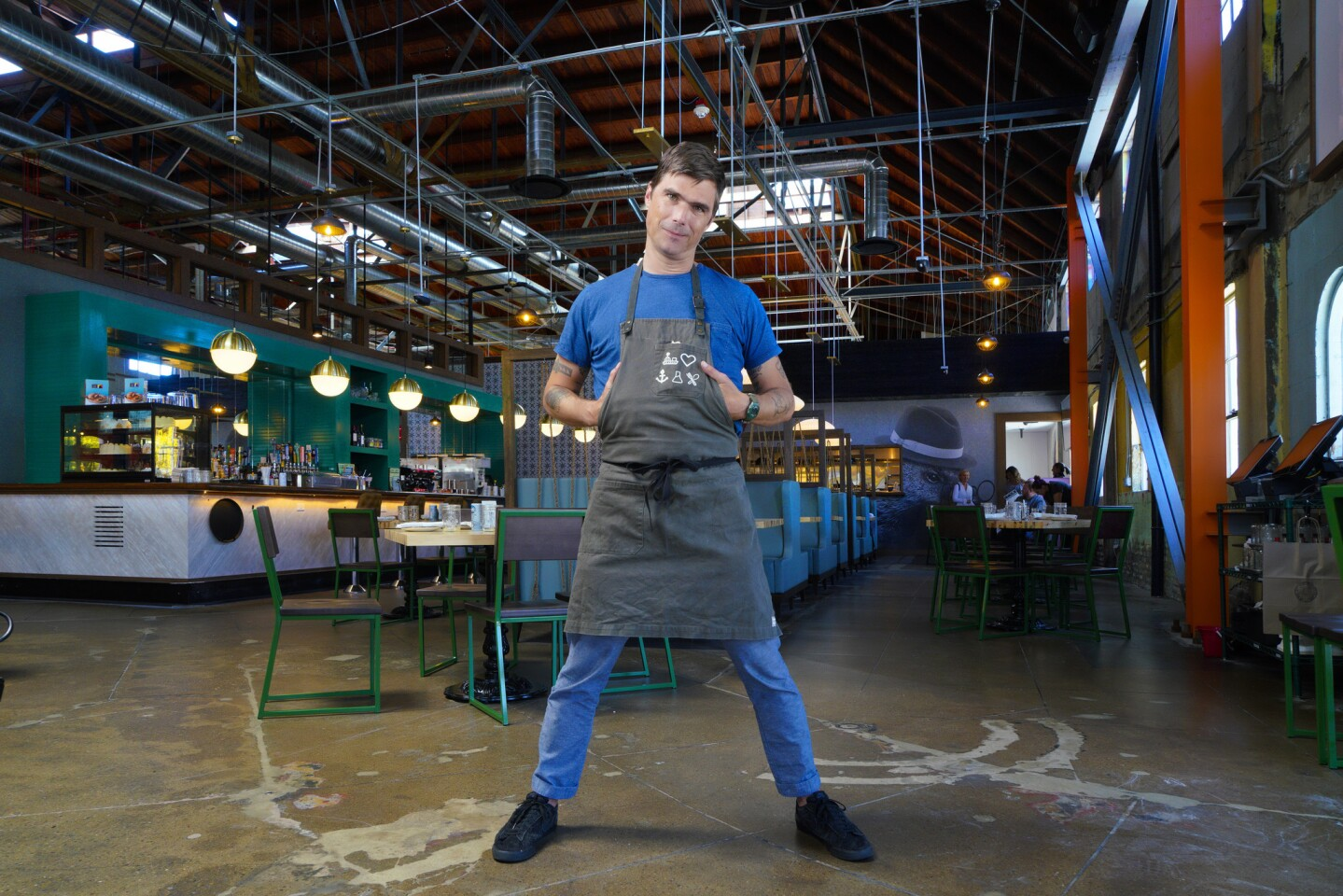 Hugh Acheson, chef and partner in the new Punch Bowl Social which opens this weekend in the East Village of downtown, San Diego.