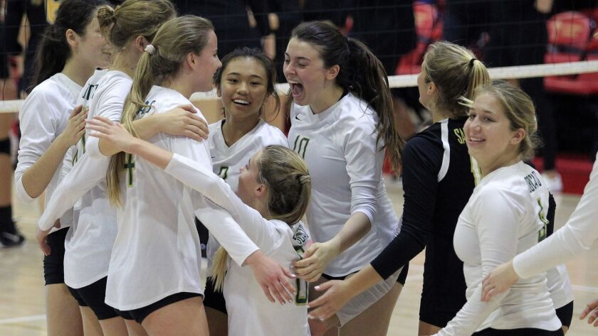 Sage Creek players savor their section championship — a second title for the Carlsbad school.