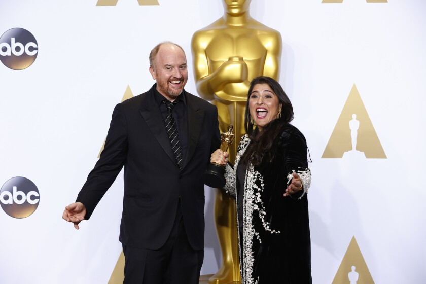 Louis C.K. and Sharmeen Obaid-Chinoy